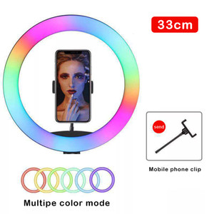 20cm 26cm 33cmRGB Ring Light for TikTok Selfie photographic Lighting Colorful Dimmable LED Lamp for YouTube Live Vlogging Short Video Camera
