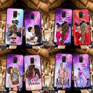 Frau Mode Mädchen Baby Mama für Samsung Galaxy A9 A8 A7 A6 A5 A3 A3 J3 J4 J5 J6 J8 Plus M30 A40S A10 A20E Phone Case