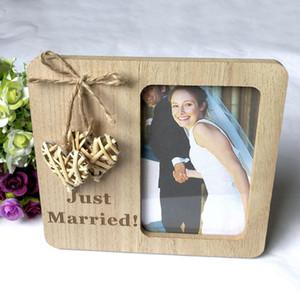 Decoração do partido Madeira Photo Frame Blackboard estilo retrato de suspensão do casamento do quadro