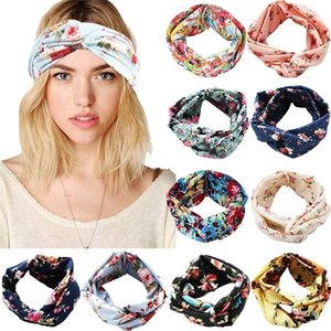 10 Pack Women Headbands Printed Floral Style Criss Cross Head Wrap Yoga Hair Band for Girls Lady LJ201026