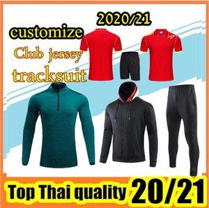 personalizar 2020-2021 homens e crianças treino conjuntos, revestimento, camisa, kit + meias,