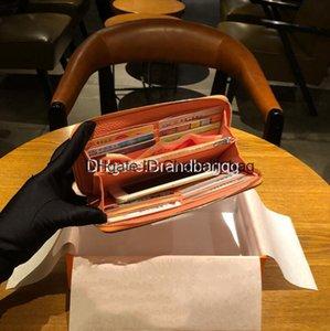 Lunga borsa Togo cuoio di strato superiore Lychee modello e femminile 2020 di moda H degli uomini di marca del progettista Wallet borsa con Box