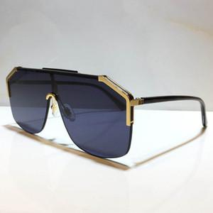 0291S تصميم النظارات الشمسية بالنسبة للنساء والرجال للجنسين نصف الإطار طلاء عدسة 0291 تخفي النظارات الشمسية شعبية الساقين من ألياف الكربون الصيف نمط كلاسيكي