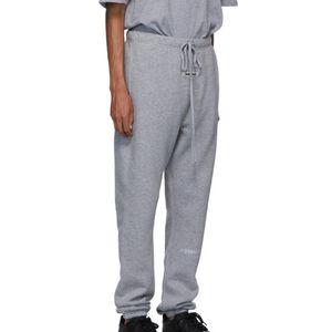 19FW Pamuk Pantolon 3M Yansıtıcı Harf Baskı Parça İpli Moda Pantolon Spor Sweatpants Pembe Mavi HFHLKZ031 Highstreet