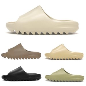yeezy kanye west slides foam runner 450 uomo donna pantofole runner Slide Resin Bone Desert Sand triple black fashion men slides beach 36-45