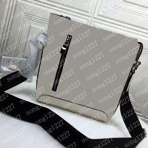 424Black und 18White perfekte Handwerkskunst schräg Satchel Postman Bag Reißverschluss glatt Die Qualität ist sehr gut, es ist notwendig, einkaufen zu gehen