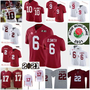 Mens Alabama Carmesim Tide Bryce Jovem Jersey 2 Patrick Surtain II Najee Harris Jaylen Waddle Mac Jones Devona Smith Alabama Jersey