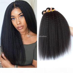 Verworrene Straight Hair Extensions Yaki Hair Weft Weave Natürliche Schwarze Farbe 1 Bündel Remy Echtes menschliches Haar