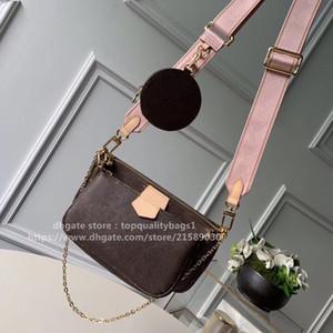 2020 neue mode m44823 top qualität luxurys designer 3 stück pack echtes leder frauen umhängetasche klassische brief crossbody bag freie schrott