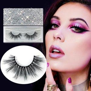 NEW glitter Mink Eyelashes Handmade False Eyelashes Natural Curly Mink Lashes Cross Mink Eyelash Extension Makeup Tool Hot Style