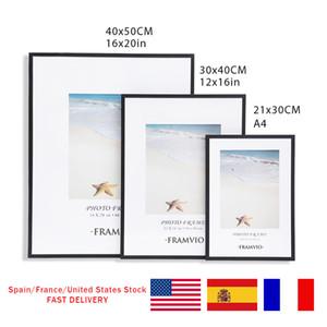 Modern Photo Frame A4 30X40CM Picture Frames Mat Metal Poster Plexiglass Black White Canvas Prints Kids Room Wall Art Home Decor Q1107