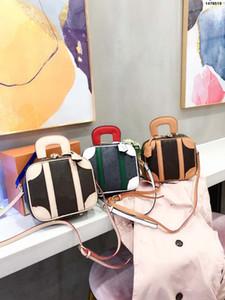 El nuevo paquete de cajas de 2020 de la cosmética Messenger Vintage Oblique Oblique Cross Single Genuine Leather Bols Bags Bags Bags