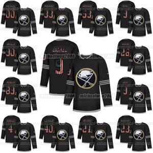 Buffalo Sabres 2020 USA Flag Fashion Jack Eichel Sam Reinhart Victor Olofsson Johansson Rasmus Dahlin Ristolainen Jeff Skinner Hockey Jersey
