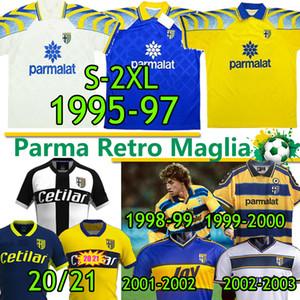 PARMA MAGLIA RETRO SOCCER JERSEYS CLASSIQUE 1995 96 96 97 1998 99 2000 02 03 Crespo Zola Cannavaro Amoroso Buffon Hommes Kits de football Vintage
