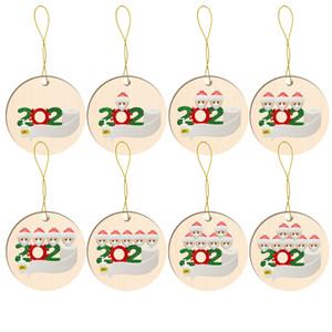 2020 Merry Christmas kolye Baskı Yüz 1-7 kişiyi Maske Santa Ana Parti Dekorasyon Craft ücretsiz gönderim