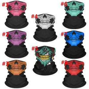 Skull Face Mask Halloween Skull Face Mask Outdoor Sports Warm Ski Caps Cycling Motorcycle Face Mask Scarf W33