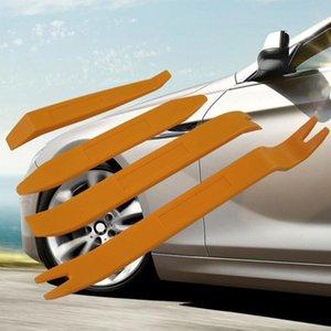 4PCS Orange ABS Professional Automobile Audio Door Clip Panel Trim Dash Auto Radio Removal Pry Tools Set Car Panel Removal Tool