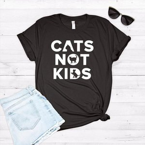 Cats Not Kids print Women tshirt Cotton Casual Funny t shirt For Lady Yong Girl Top Tee Hipster Drop Ship S 232