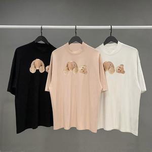 camicia Mens T Shirts di alta qualità T Cotton Maniche corte modo delle donne T della camicia degli uomini Coppia Nero Bianco Rosa Tees formato S-XL