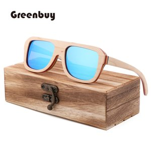 New Fashion Natural Environmental Skateboard Wood Sunglasses Classic Box Polarized TAC Lens UV400 Children's Sunglasses
