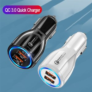 18W 3.1A Car Charger Dual USB Fast Charging QC Phone Charger Adapter For Multiple phones
