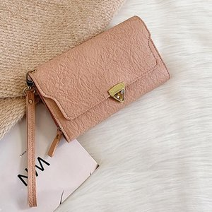 Trend Women's Small Change Mini Money Bags Сумки на открытом воздухе Мода Trend Trend Сплошные Цвета Кошельки Осажденные Кожаные Карта Чехол Монета Кошелек Кошелек
