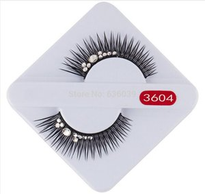 Handmade Natural Fake Black Long False Eyelashes Beauty Party 1 Pairs Eye Lashes Beauty Bride Wedding