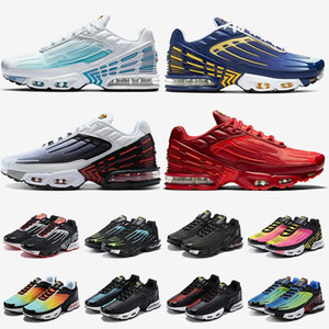 2021 New Quality Tuned Plus III Tn 3 Mens Women Running Shoes Crimson Red Triple White Black Purple Grey Best Trainers Athletic Sneakers