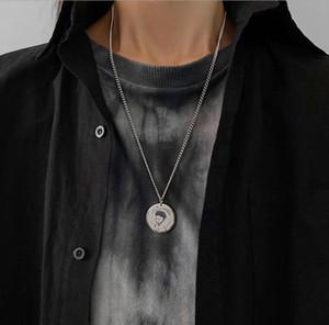 New arrival Little prince ins round brand Pendant Necklace men and women cool wind hip hop titanium steel cute cartoon versatile accessories