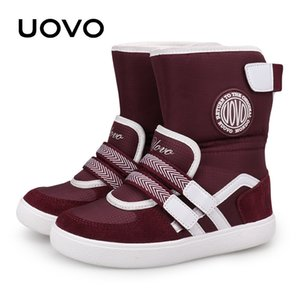 UOVO New Favorite Kids Boots Fashion Snow Boots Children Sport Shoes Beatiful Girls Short Boots With Eur Size #26-39 201021