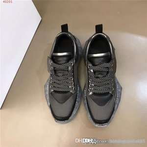 Mens casual daddy shoes, cowhide spliced breathable mesh sneakers, crystal air cushioned platform shoes original package size 38-44