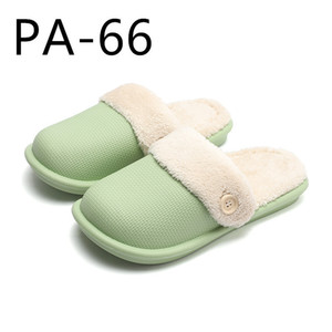 Waterproof cotton slippers can be taken out and washed in women's winter home PA64-66 201128