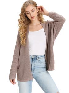 Female designer clothing 2021 casual bat long sleeve cardigan kimono cardigan sweater loose knit jacket