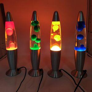 Lava Lamp Car Decoration Rocket Shape Lamp Novel Elegant Family Bedroom Lava Decoration 4 Colors