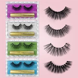 10 Manyetik Kirpik Bir Çift Yanlış Kirpik Takım Manyetik Eyeliner Lashes On Manyetik Mıknatıs Eyeliner Seti