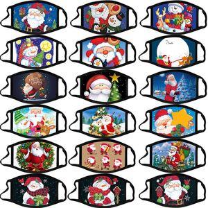 Weihnachten-Design-Gesichtsmaske Adult Cotton wiederverwendbare waschbare Staubdichtes Weihnachten Cartoon Fashion Designer Dace Masken Maske GGE2151