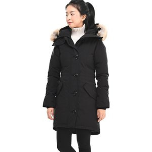 free Canada Women Rossclair Parka High Quality Long Hooded Fur Fashion Warm Down Jacket Outdoor warm coat