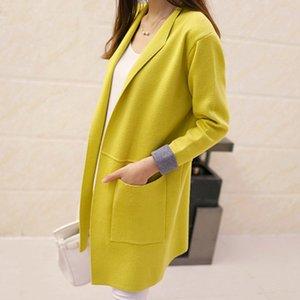 Tigena femmina 2020 autunno inverno manica lunga maglione cardigan maglione cardigan per donna giacca Top Y200722