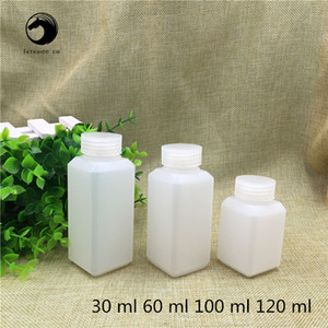 Free Shipping 30 60 100 120 ml Sealed Plastic Empty Square bottle Chemical liquid sample packaging Containers