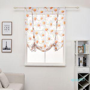 100*140cm Curtain Flower Printed Short Sheer Curtains Simple Modern Bedroom Living Room Tulle Window Drape Valance Home Decor DBC DH0899-6