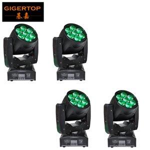 Freeshipping 4xLOT 7x12W RGBW 4IN1 Zoom Led Moving Head Light Wash+Beam 2in1 Effect DMX 16CH LED Display 3 Pin XLR DMX512 Socket