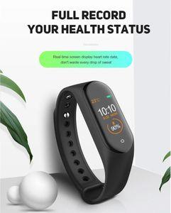Nuovo orologio sportivo M4 Pro Smart Bracelet Smart Frequenza cardiaca impermeabile Braccialetto di fitness Braccialetto per Android Ios