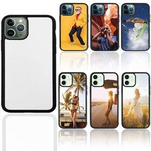 Сублимационные чехол для телефона для iPhone 6S 7 8 11 XS XR 12 Pro Max с липкими алюминиевыми вставками