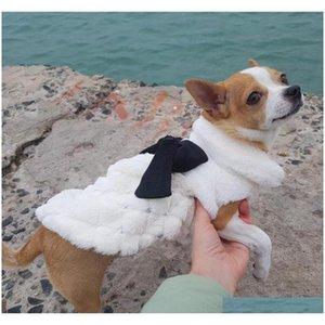 pet clothes elegant luxury fur winter overcoat small dog cat clothes bowknot chihuahua puppy pet dog accessories VGtzK