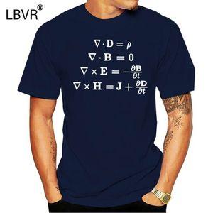 Homens T-shirt de Maxwell equações cobrem o algodão puro camiseta de manga curta ciência física shirts Totó matemática equação lerdo T