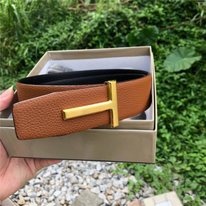 2020 TF Belts Men Clothing Accessories Business Belts For Men Big Buckle Fashion Mens Leather Belts Wholesale With Origial Box TF-010