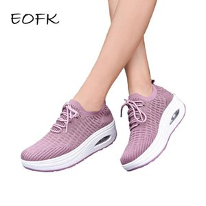 EOFK Women Sneakers Shoes Platform Autumn Fashion Quality Casual Shoes Woman Flats Lace-up Thick Bottom Comfortable Ladies