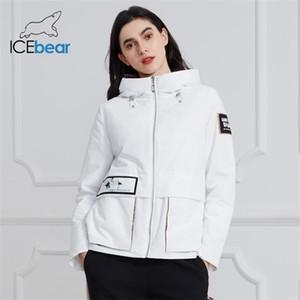 Icebear 2020 New Coat Primavera jaqueta casual com capuz Qualidade Mulheres Roupa GWC20728I X0923