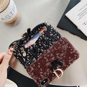 Beau portefeuille tricot, étui de téléphone mobile durable et résistant à la goutte, convenant pour l'iPhone 11 12 Pro X XS Max XR 7 8 plus