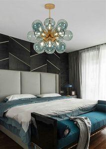 Современный стеклянный пузырь люстр 85-265V LED подвесной подвесной свет Loft Deco спальня столовая подвесная лампа
